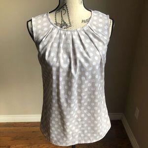 Merona sleeveless polka dot top w/keyhole back XS